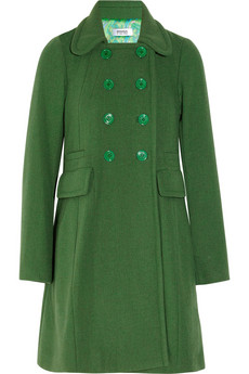 Sonia by Sonia Rykiel Double-breasted wool-blend coat - 60% Off Now at THE OUTNET