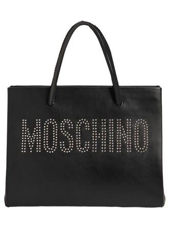 studded bag tote bag leather tote bag leather black