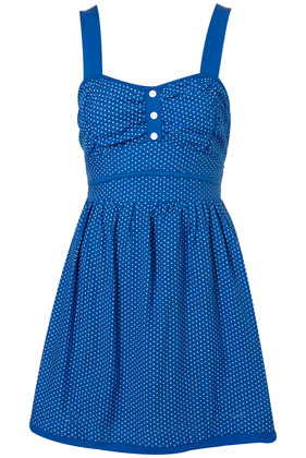 3 button polka dress by wal g*