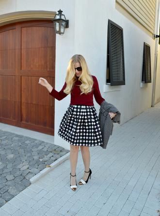 blogger fash boulevard polka dots pointed toe skirt