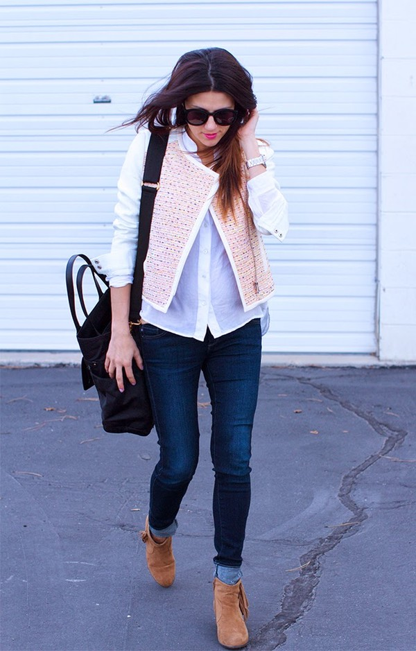 hello fashion jacket blouse jeans shoes jewels bag