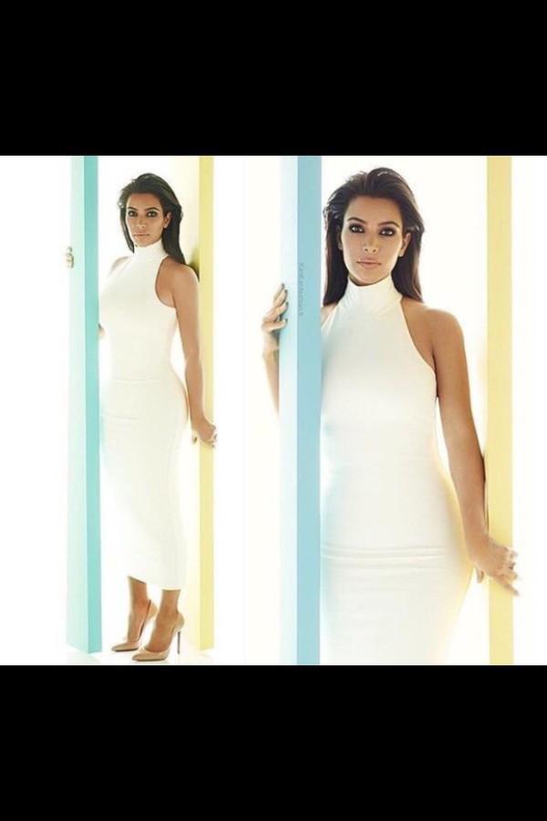White Turtleneck Dress - Shop for White Turtleneck Dress on Wheretoget
