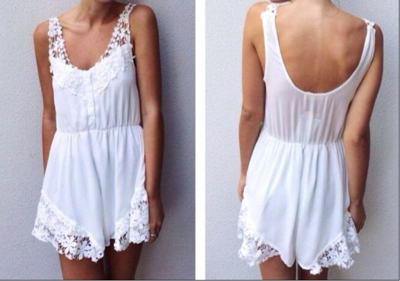 free shIpping .2014  Stitching lace halter Rompers  FT620-in Jumpsuits & Rompers from Apparel & Accessories on Aliexpress.com