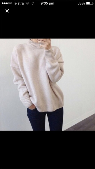 sweater beige sweater high neck winter sweater