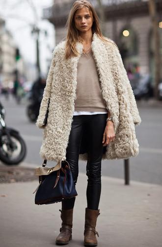 coat faux fur jacket warm long coat fuzzy coat beige fluffy coat white fluffy coat teddy bear coat