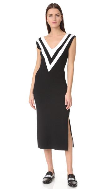 Rag & Bone Daphne Sweater Dress - Black/White