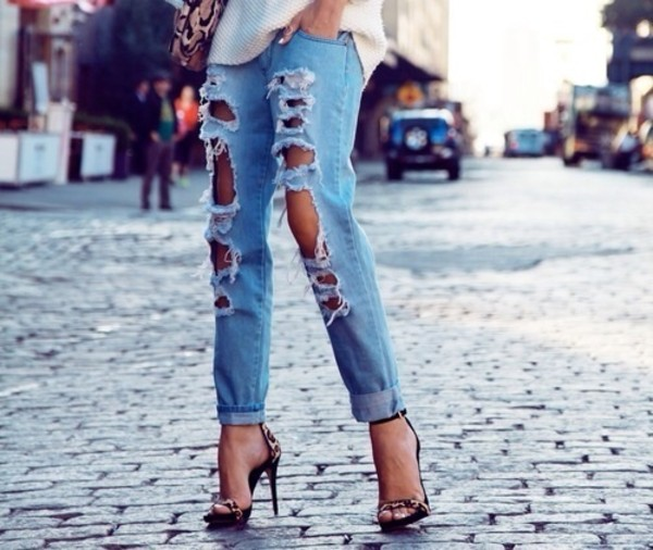 jeans shoes high heels
