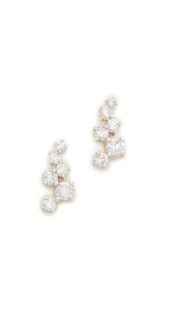 Adina Reyter Scattered Diamond Stud Earrings - Gold