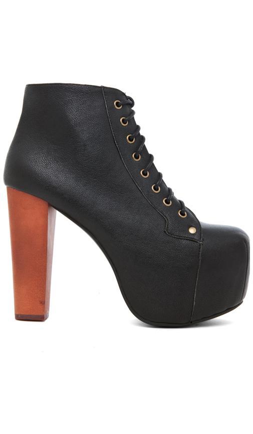 jeffrey campbell lita platform lace up boot in black from. Black Bedroom Furniture Sets. Home Design Ideas