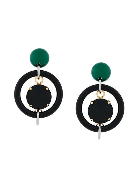 MARNI women geometric earrings black jewels