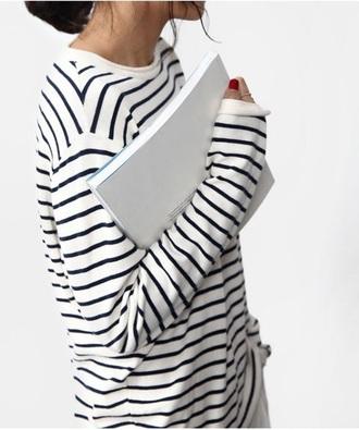 sweater striped sweater