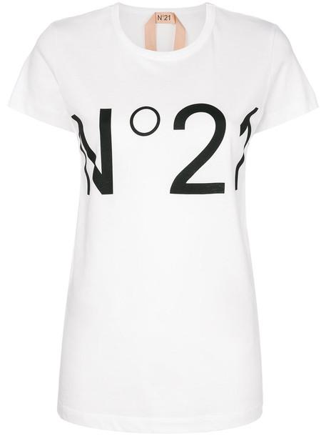 No21 t-shirt shirt t-shirt women white cotton top