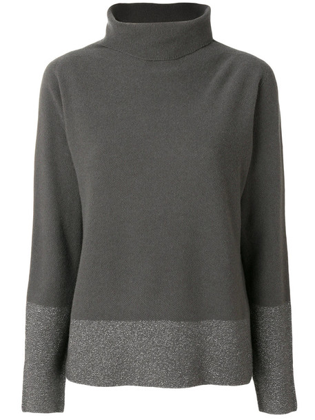 Fabiana Filippi sweater glitter women silk grey