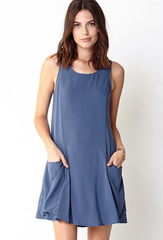 Minimalist Drop Waist Dress   LOVE21 - 2000129520