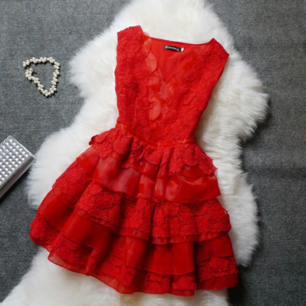 dress red dreesses dresses evening style girl short white clothes