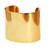 A. V. Max Large Gold Cuff | Lemon Stripes