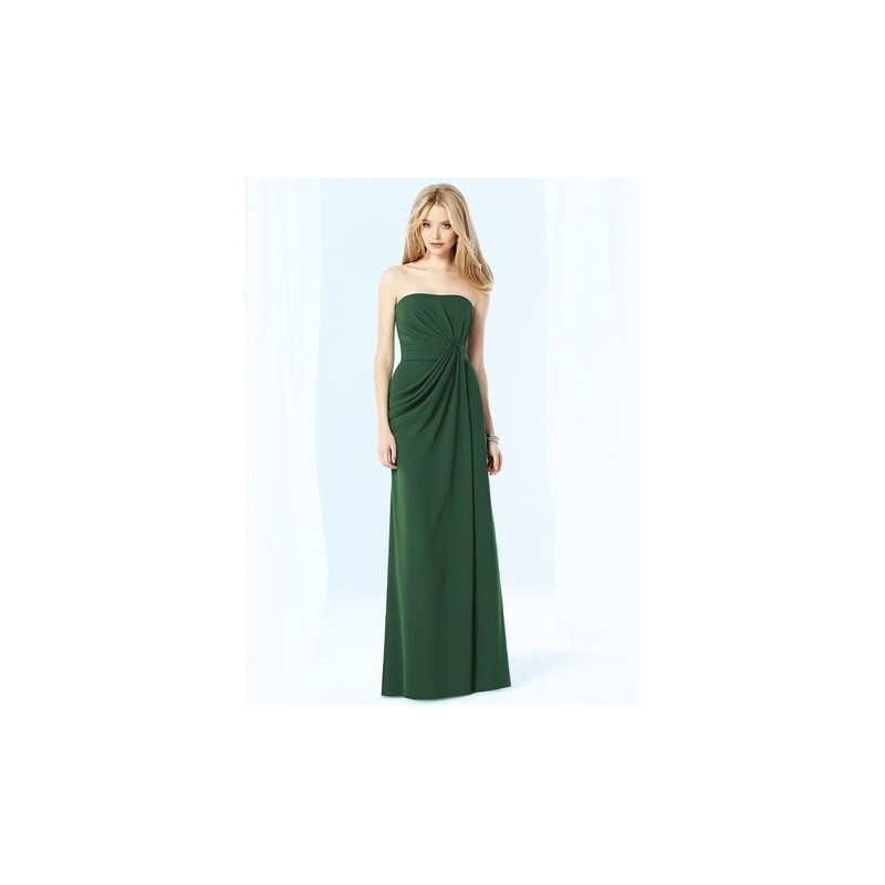 After Six by Dessy 6700 Long Strapless Chiffon Bridesmaid Dress - Crazy Sale Bridal Dresses|Special Wedding Dresses|Unique 2017 New Style Dresses