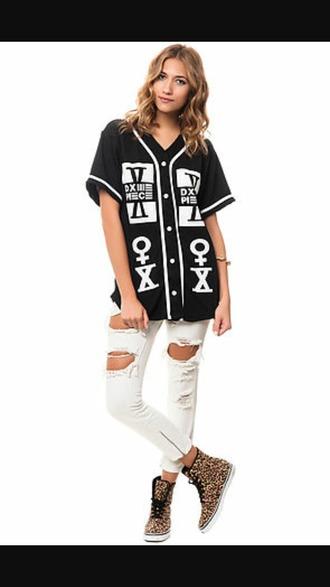 shirt baseball jersey button up