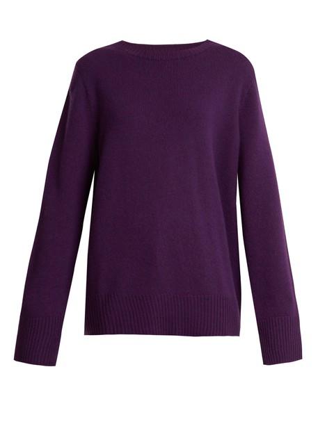 The Row sweater wool purple