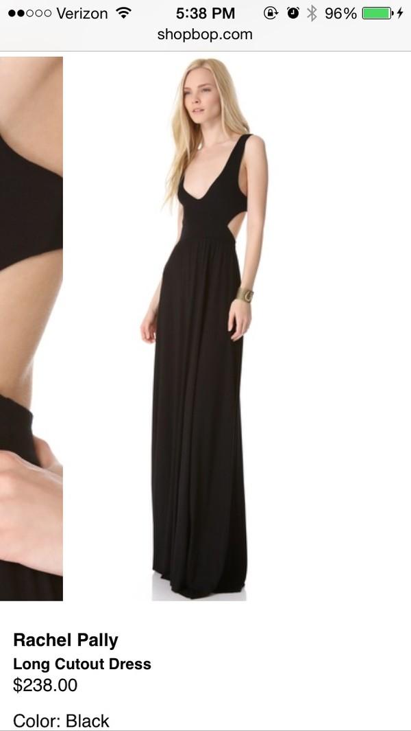 dress black maxi long