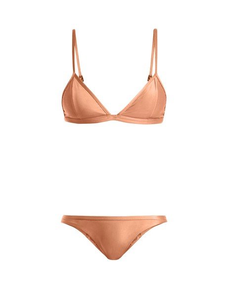 Haight bikini triangle bikini triangle beige swimwear
