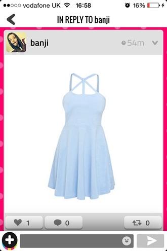 dress blue short cute prom summer spring fashion