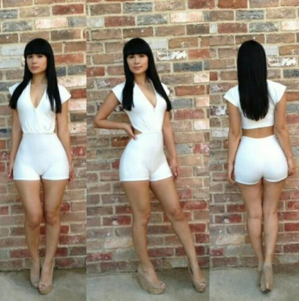 romper white jumpsuit