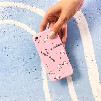 phone cover yeah bunny iphone space pink pink space moon stars