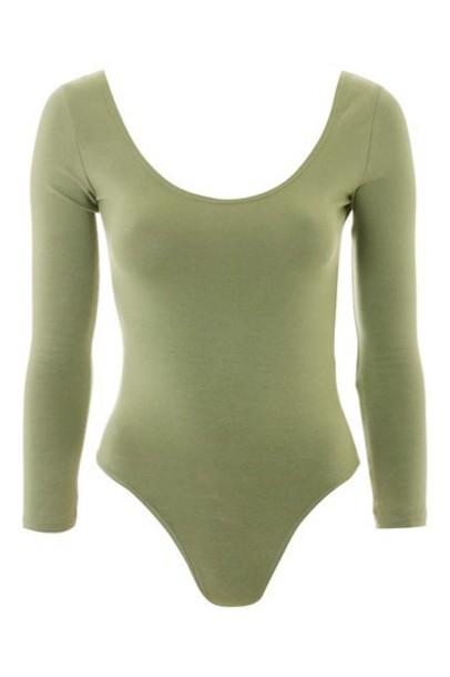 Topshop body long cotton khaki underwear