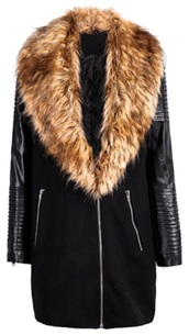 coat,fur coat,leather jacket,winter sweater,winter jacket,winter coat,black,zip,fashion,fall sweater,formal dress