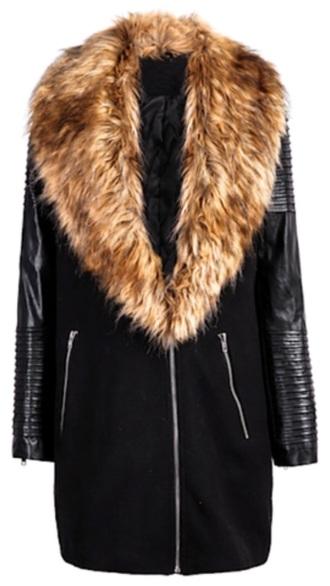 coat fur coat leather jacket winter sweater winter jacket winter coat black zipper fashion fall sweater formal dress