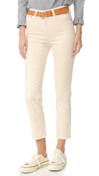 Ag The Phoebe High Waisted Jeans - 1 Year True Ecru