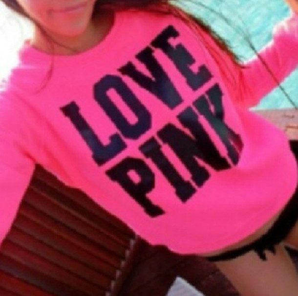 Sweater: pink sweater, pink by victorias secret - Wheretoget