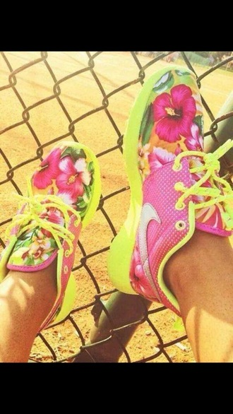 shoes yellow flower nike