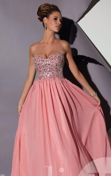 dress pink pretty dress prom dress