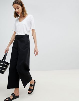 Selected Wide Leg Cropped PANTS at asos.com