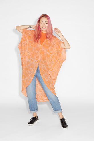 jacket kaftan orange