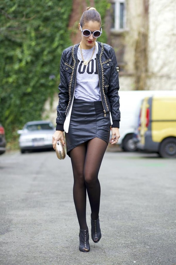 from brussels with love t-shirt jacket skirt shoes bag sunglasses