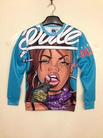 sweater crewneck womens sweatshirt urban style swag badgirls wale
