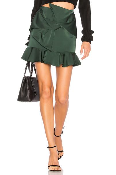 Lovers + Friends skirt mini skirt mini dark green