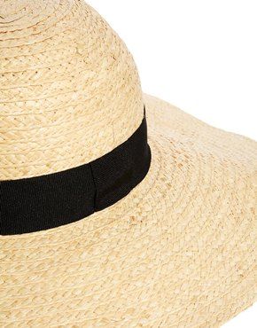 Catarzi | Catarzi Exclusive to ASOS Wide Brim Straw Hat with Black Ribbon at ASOS