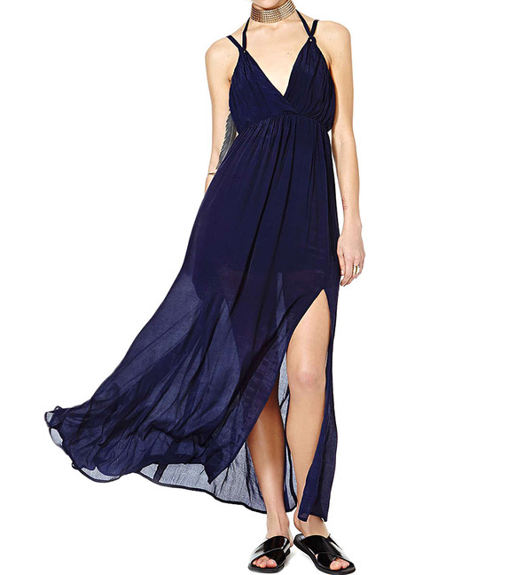 dress blue pretty fashion style blue dress
