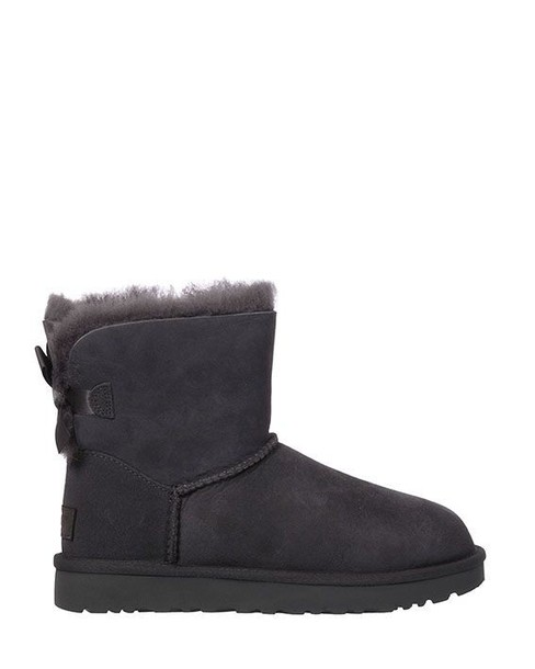 Ugg boot bow mini grey shoes