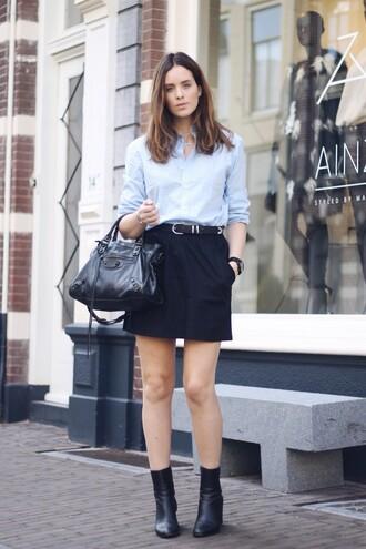 moderosa blogger skirt make-up bag shoes belt