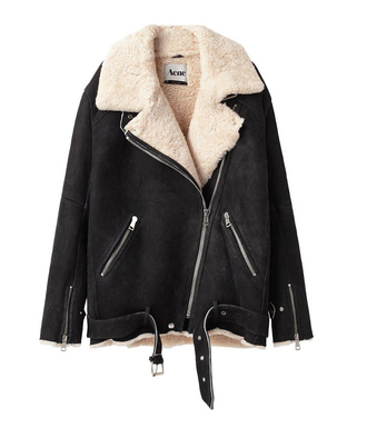 jacket fall outfits acne studios shearling jacket aviator jacket faux suede