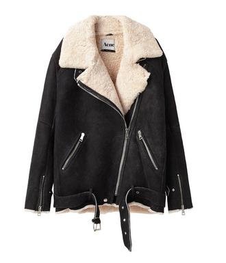 jacket autumn acne studios shearling jacket aviator jacket faux suede
