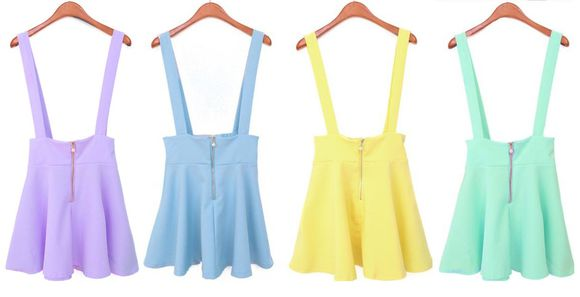skirt circle skirt suspenders