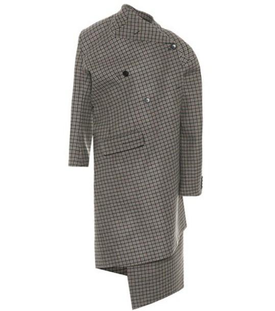 Balenciaga coat wool coat wool brown