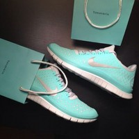 TIFFANY BLUE NIKE FREE RUNS on The Hunt