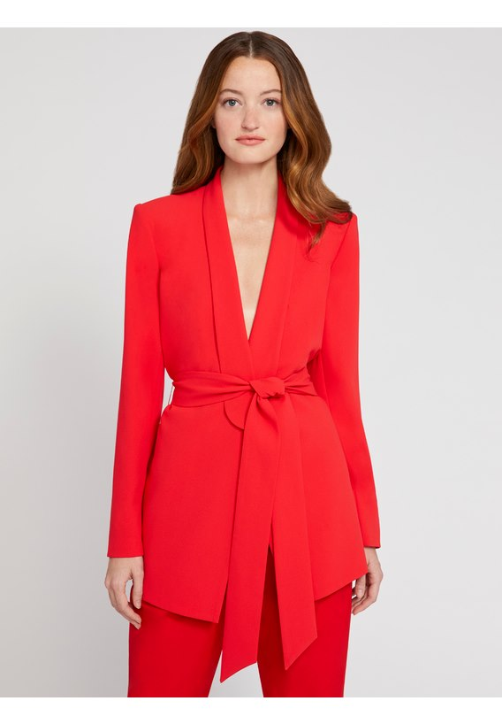 alice + olivia Denny Strong Shoulder Blazer